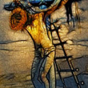 Crucifixion - Stained Glass Print by Ray Downing