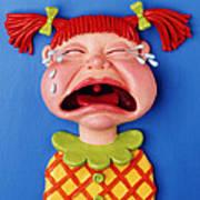 Crying Girl Print by Amy Vangsgard