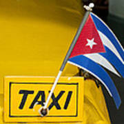 Cuba Taxi Print by Norman Pogson