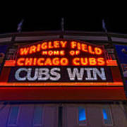 Cubs Win Print by Steve Gadomski