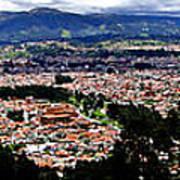 Cuenca And Turi Panorama Print by Al Bourassa