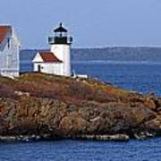 Curtis Island Lighthouse Print by Skip Willits