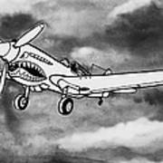 Curtiss P-40 Warhawk 2 Print by Scott Nelson