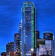 Dallas Skyline Hd Print by Jonathan Davison