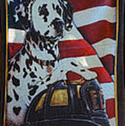Dalmatian The Firefighters Mascot Print by Paul Ward