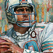 Dan Marino Print by Michael  Pattison