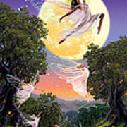 Dance Of The Moon Fairy Print by Garry Walton