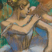Dancer Adjusting Her Shoulder Print by Edgar Degas