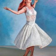 Dancer In White Print by Paul Krapf