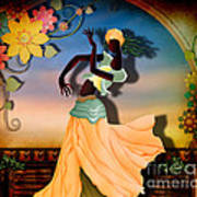 Dancer Of The Balcony Print by Bedros Awak