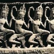 Dancing Apsaras. 13th C. Khmer Art Print by Everett