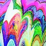 Dancing Hearts  Print by Annie Zeno