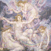 Daughters Of The Mist Print by Evelyn De Morgan