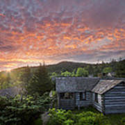 Dawn Over Leconte Print by Debra and Dave Vanderlaan