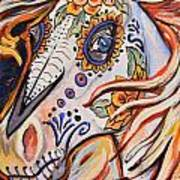Day Of The Dead Horse Print by Jenn Cunningham