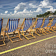 Deckchairs At Southend Print by Avalon Fine Art Photography