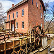 Deep River Grist Mill In Northwest Indiana Print by Paul Velgos
