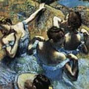 Degas, Edgar 1834-1917. Blue Dancers Print by Everett