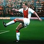 Dennis Bergkamp Ajax Print by Paul Meijering