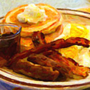 Denny's Grand Slam Breakfast - Painterly Print by Wingsdomain Art and Photography