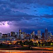 Denver Skyline Print by John K Sampson