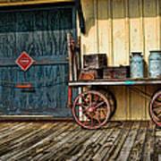 Depot Wagon Print by Kenny Francis