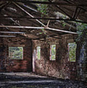 Derelict Building Print by Amanda Elwell