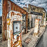 Derelict Gas Station Print by Adrian Evans