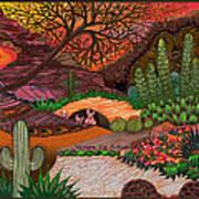 Desert Evening Print by Vivian Rayford