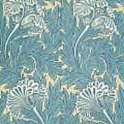 Design In Turquoise Print by William Morris