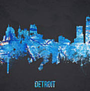 Detroit Michigan Usa Print by Aged Pixel