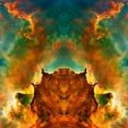 Devil Nebula Print by The  Vault - Jennifer Rondinelli Reilly