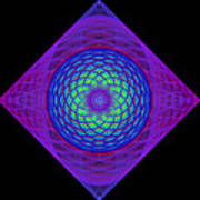 Diamond Swirl Print by Sandy Keeton