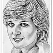 Diana - Princess Of Wales In 1981 Print by J McCombie
