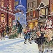 Dickensian Christmas Scene Print by Angus McBride