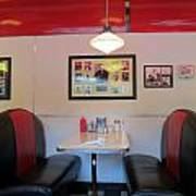 Diner Booth Print by Randall Weidner