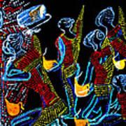 Dinka Wise Virgins Print by Gloria Ssali