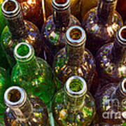 Dirty Bottles Print by Carlos Caetano