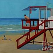 Distracted Lifeguard Print by Anthony Dunphy