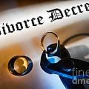 Divorce Decree Print by Olivier Le Queinec