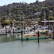 Docks At Sausalito California 5d22697 Print by Wingsdomain Art and Photography