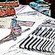 Doctor - Medical Instruments Print by Susan Savad