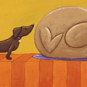 Dog And Turkey Print by Christy Beckwith