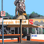 Doggie Diner 1986 Print by Wingsdomain Art and Photography