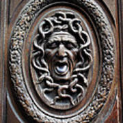 Door In Paris Medusa Print by A Morddel