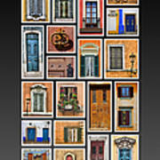 Doors And Windows Of Europe Print by David Letts