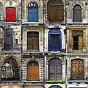 Doors Of Paris Print by Heidi Hermes