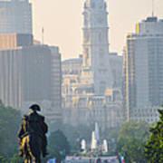 Downtown Philadelphia - Benjamin Franklin Parkway Print by Simon Wolter
