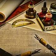 Draftsman - The Ship Builder  Print by Paul Ward