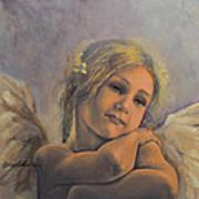 Dreamy Angel Print by Dorina  Costras